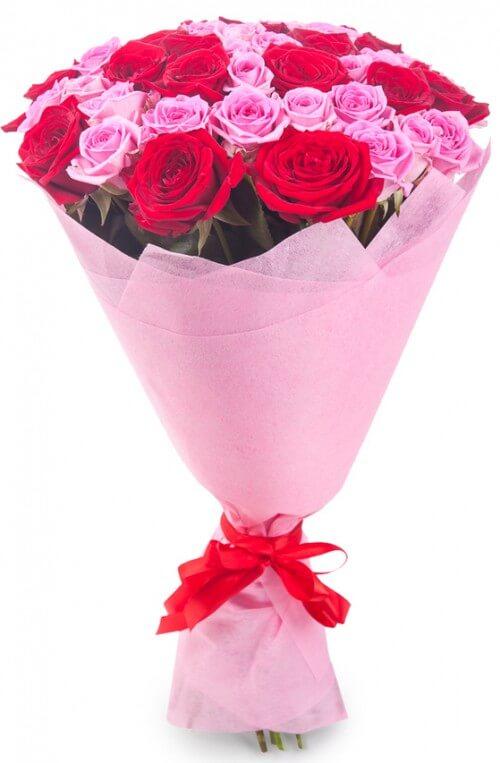 Букет из красно розовые цветов, эстонии цветы